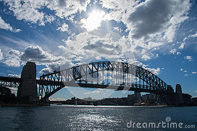 Sydney-June 2009 : Harbour bridge another landmark of Sydney city Editorial Photo