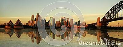 Sydney landmarks panorama