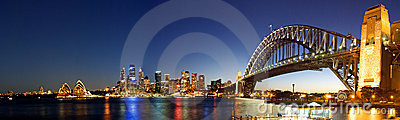 Sydney-Night Skyline Panorama