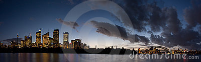 Sydney - Night Skyline Panorama