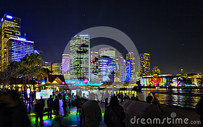 Sydney by Night at Vivid Festival 2012 Editorial Stock Photo