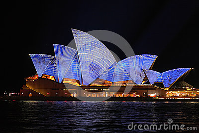 Sydney Opera House with architectural blueprint design Editorial Stock Photo