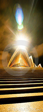 Free Sydney Opera House At Night Stock Photography - 10645132