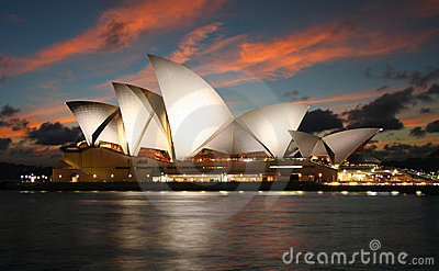 Sydney Opera House in Australia Editorial Photography