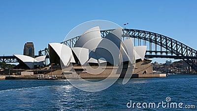 Sydney Opera House and bridge, Australia Editorial Stock Photo