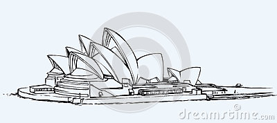 Sydney Opera House Croquis De Vecteur Photo stock ...