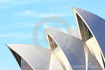 Sydney Opera House roof detail Editorial Stock Photo