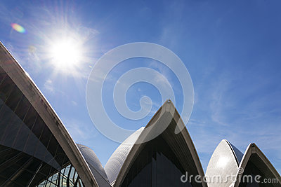 Sydney opera house detail in australia Editorial Photo