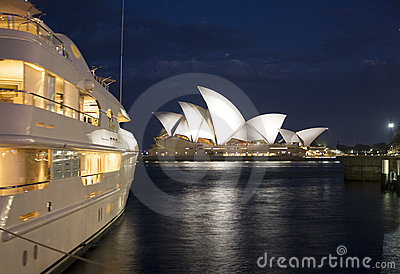 Sydney Opera House at Dusk Editorial Photo