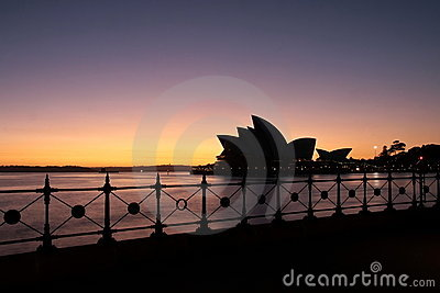 Sydney Opera House at first light. Editorial Photography