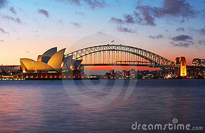 Sydney Opera House and Harbour Bridge Editorial Image