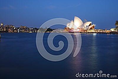 Sydney Opera House with Kirribilli blue hour Editorial Image