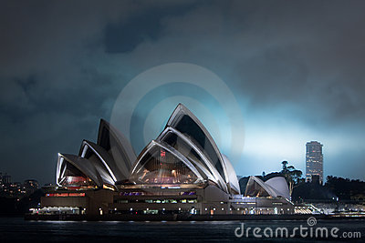 Sydney Opera House at night. Editorial Photography