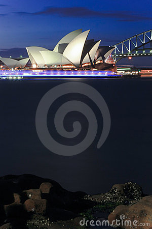 Sydney Opera House at night. Editorial Photo