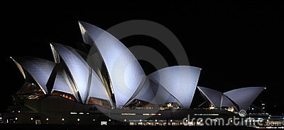 Sydney Opera House at night Editorial Stock Photo
