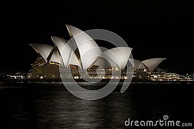 Sydney Opera House at night in Australia Editorial Image