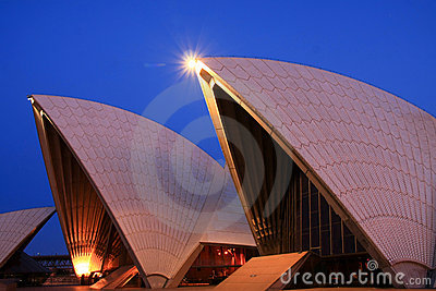 Sydney Opera House sails at first light. Editorial Photography