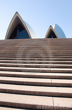 Sydney Opera House steps Editorial Stock Image