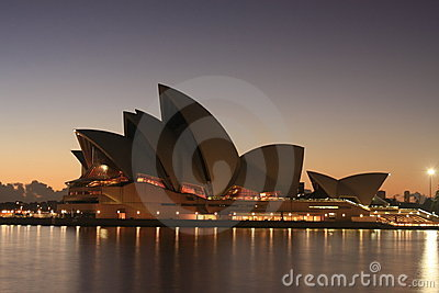 Sydney Opera House at sunrise. Editorial Photography