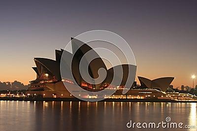 Sydney Opera House at sunrise. Editorial Photography