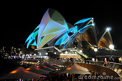 Sydney Opera House Vivid Editorial Stock Image