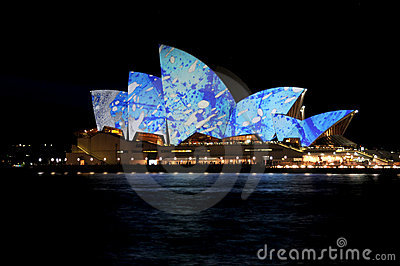 Sydney Opera House Vivid Editorial Photography