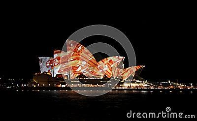Sydney Opera House Vivid Editorial Image
