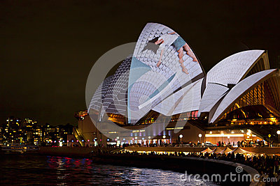 Sydney Opera House at Vivid Festival 2012 Editorial Photography