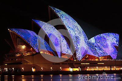 Sydney Opera House - Vivid Festival Editorial Photo