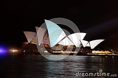 Sydney Opera House Vivid Festival Editorial Image
