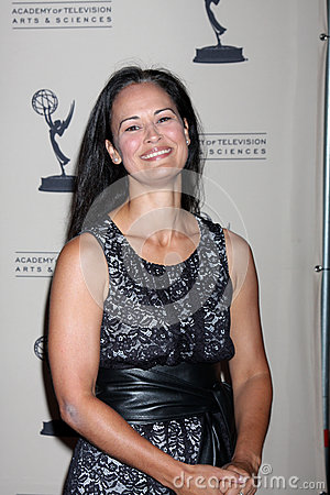Sydney Penny arrives at the ATAS Daytime Emmy Awards Nominees Reception Editorial Image