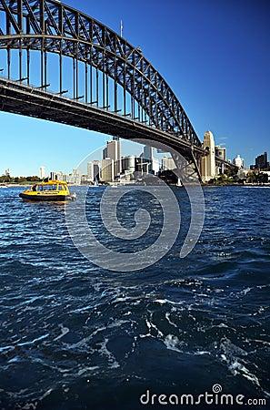 Sydney Sailing Under The Harbour Bridge Australia Editorial Image
