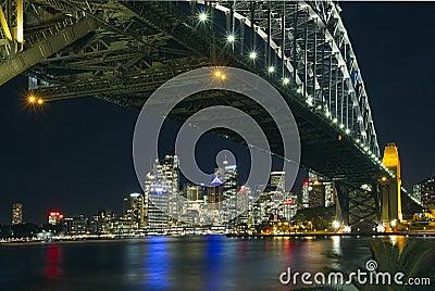 Sydney skyline and Harbour Bridge