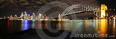 Sydney Skyline Panorama at night