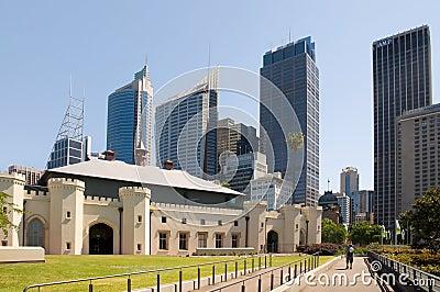 Sydney skyline from from Royal Botanic Gardens Editorial Stock Image