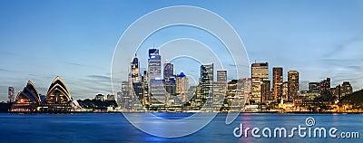 Sydney skyline after sunset