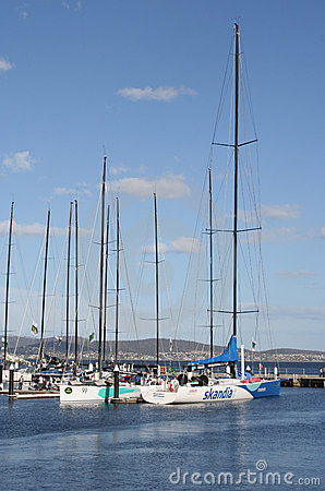 Sydney to Hobart racing Yachts, Hobart, Tasmania Editorial Stock Image