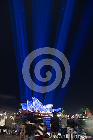 Sydney Vivid light festival 2014 Opera house Editorial Photo