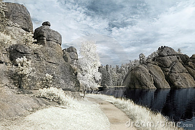 Sylvan Lake in Infrared