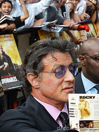 Sylvester Stallone At The Expendables Premiere Editorial Image