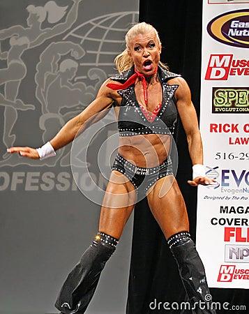 Sylvia Tremblay fitness star Editorial Image