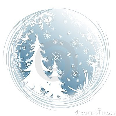 Sylwetka płatki śniegu tree