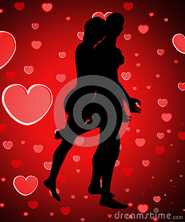 Sylwetkowa para Z miłością