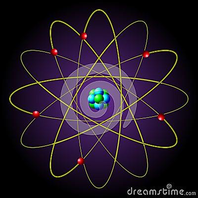 The symbol of the atom
