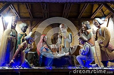 Symbol of Christmas - Nativity scene in the center of Lviv