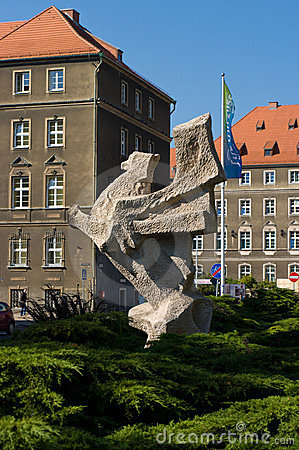 The symbol of the city of Szczecin, Griffin Editorial Stock Image