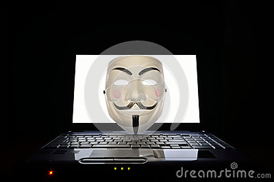 Symbol of computer hackers Editorial Image