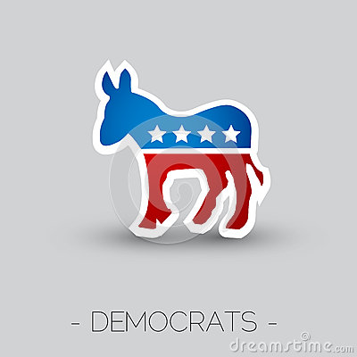 Symbol Democratic Party Editorial Photography - Image: 25020197