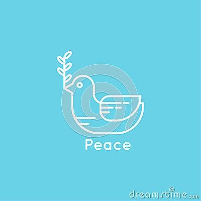 symbol der friedenstaube vektor abbildung bild 50206521. Black Bedroom Furniture Sets. Home Design Ideas