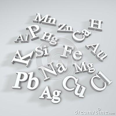 Symbol des chemischen elements lizenzfreies stockfoto bild 11616555